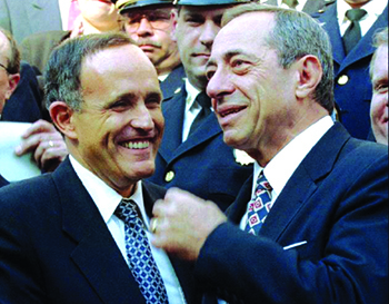 Mario Cuomo and Rudy Giuliani / Image:thoughtmerchant.com